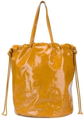 Sharkchaser Logo Embossed Bucket Bag
