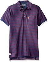 U.S. Polo Assn. Men's Short Sleeve Slim Fit Balanced Stripe Pocket Shirt