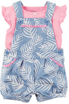 Carter's 2-Piece Neon Top & Shortalls Set