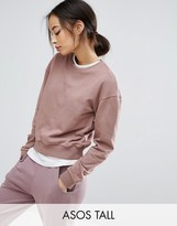 ASOS Tall ASOS TALL Oversized Cropped Sweatshirt