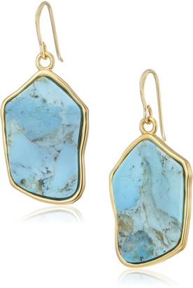 Barse Turquoise Statement Drop Earrings