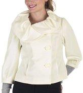 Mossimo® 3/4-Sleeve Wool Coat - White