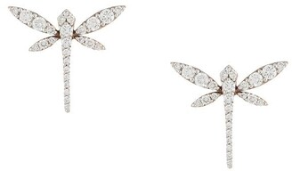 Anapsara 18kt rose gold and diamond Mini Dragonfly earrings