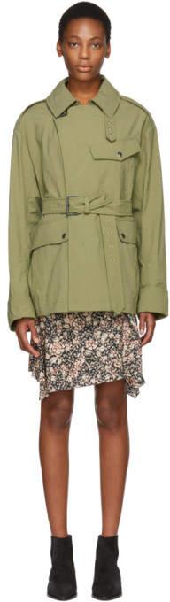 Isabel Marant Khaki Lorenzo Trench Coat