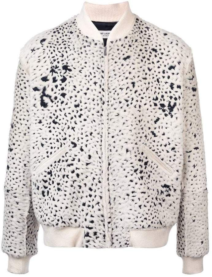 Saint Laurent patterned bomber jacket