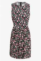 Select Fashion Fashion Womens Multi Floral Tie Side Tea Dress - size 6