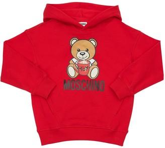 Moschino Toy Bear Print Cotton Sweatshirt Hoodie