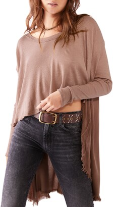 Free People TT Special Waffle Knit High/Low Top