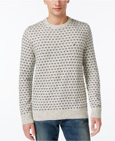 Tommy Hilfiger Men's Big & Tall Geometric Crew-Neck Sweater