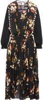 Preen Line Zadie Ruffled Paneled Floral-print Chiffon Maxi Dress - Black