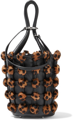 Alexander Wang Roxy Mini Leopard-print Calf Hair And Leather Bucket Bag