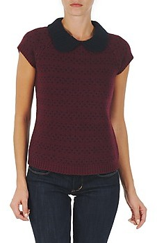 Manoush TOP CROCHET CUR women's Sweater in Red