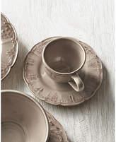 Horchow Four Fleur-de-Lis Cups & Saucers
