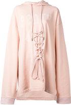 Puma front lace hoodie - women - Cotton/Polyester/Spandex/Elastane - XS