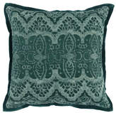 "Kosas Belgravia Embroidered 18"" Throw Pillow, Emerald by Home"