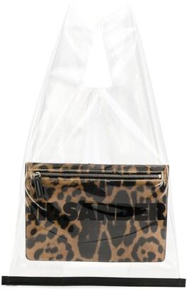 Jil Sander Clear Shopping Tote