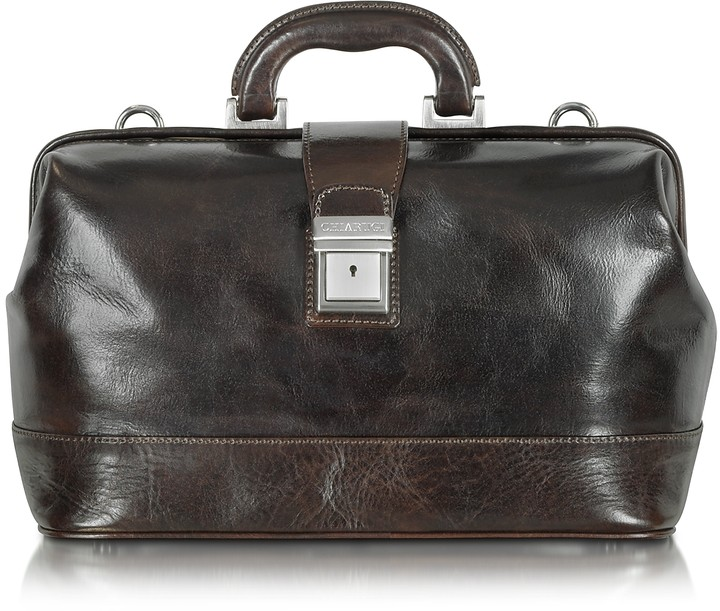 Chiarugi Medium Dark Brown Leather Doctor Bag