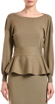 Agnona Wool-Silk Peplum Sweater