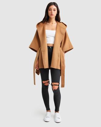 Belle & Bloom Jackson Landing Wool Blend Cape Coat
