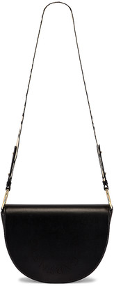 Stella McCartney Leather Flap Shoulder Bag in Black | FWRD