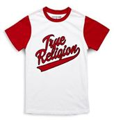 True Religion Boy's Printed Short Sleeve Baseball Tee