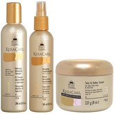 KeraCare by Avlon Detangling Shampoo and Conditioner Duo with Natural Textures Twist and Define Cream