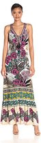 Hale Bob Women's El Flordita Lace-Up Maxi Dress