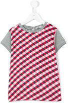 Moncler check panel T-shirt