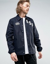 Element Murray Coach Jacket Skate Logo Applique In Navy