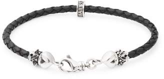 King Baby Studio Sterling Silver & Leather Braided Bracelet