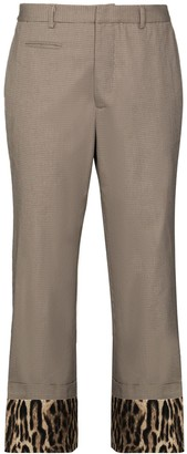R 13 Contrast-Cuff Tailored Trousers