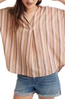 Madewell Courier Rainbow Stripe Button-Back Shirt