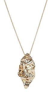 Alexis Bittar Waved Leaf Pendant Necklace, 32