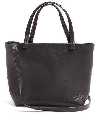 The Row Park Grained-leather Cross-body Bag - Womens - Black