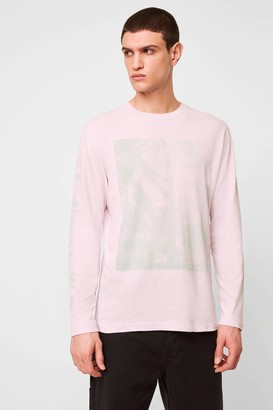 French Connenction Tonal Beach Long Sleeve T-Shirt