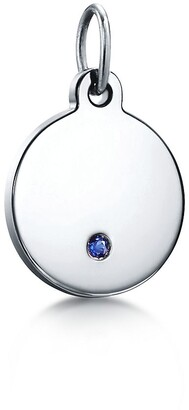 Tiffany & Co. Charms round tag in 18k white gold a with sapphire, mini