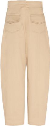 Martin Grant Cotton High-Rise Carrot-Leg Cargo Pants