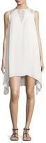 French Connection Hennessy Draped Asymmetrical Shift Dress
