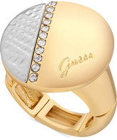 GUESS Two-Tone Pave Circle Stretch Ring