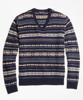 Brooks Brothers Heritage Fair Isle V-Neck Sweater