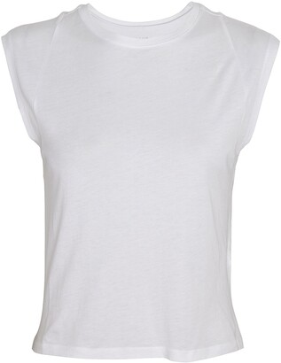 Frame Le High Rise Muscle Sleeveless T-Shirt