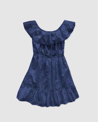 Gelati Jeans Annie Cotton Broderie Off-Shoulder Dress