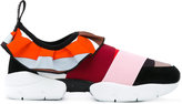 Emilio Pucci strap trainers - women - Silk/Calf Leather/Polyamide/rubber - 35