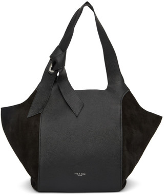 Rag & Bone Black Leather Grand Shopper Tote