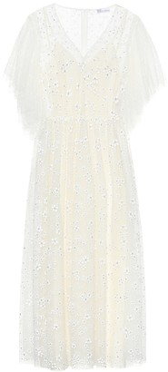 RED Valentino Crystal-embellished tulle gown