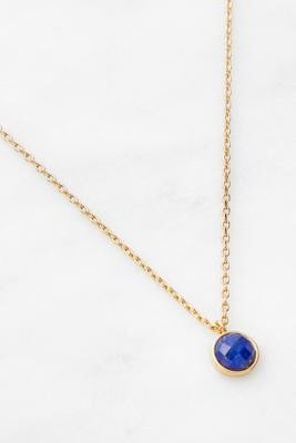 Estella Bartlett Lapis Lazuli Pendant Gold-Plated Necklace - Blue ALL at Urban Outfitters