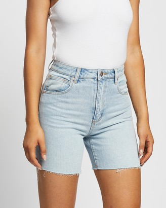 Abrand - Women's Blue Denim - A Claudia Cut Offs - Size 24 at The Iconic