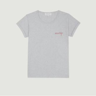 Maison Labiche Grey Wild Embroidered T Shirt - small