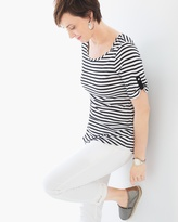 Chico's Lila Striped Tee