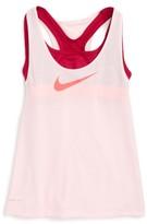 Nike Girl's Breathe Dri-Fit Tank With Bra